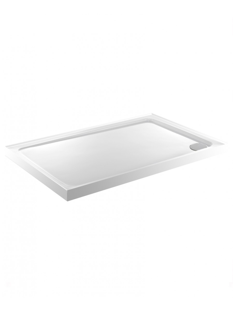 Kristal Low Profile 800X700 Rectangle Upstand Shower Tray   with FREE shower waste
