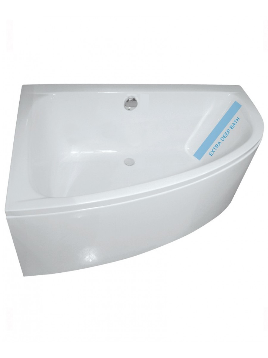 Maya 1500 x 1000mm Offset Corner Bath Left Hand & Bath Panel