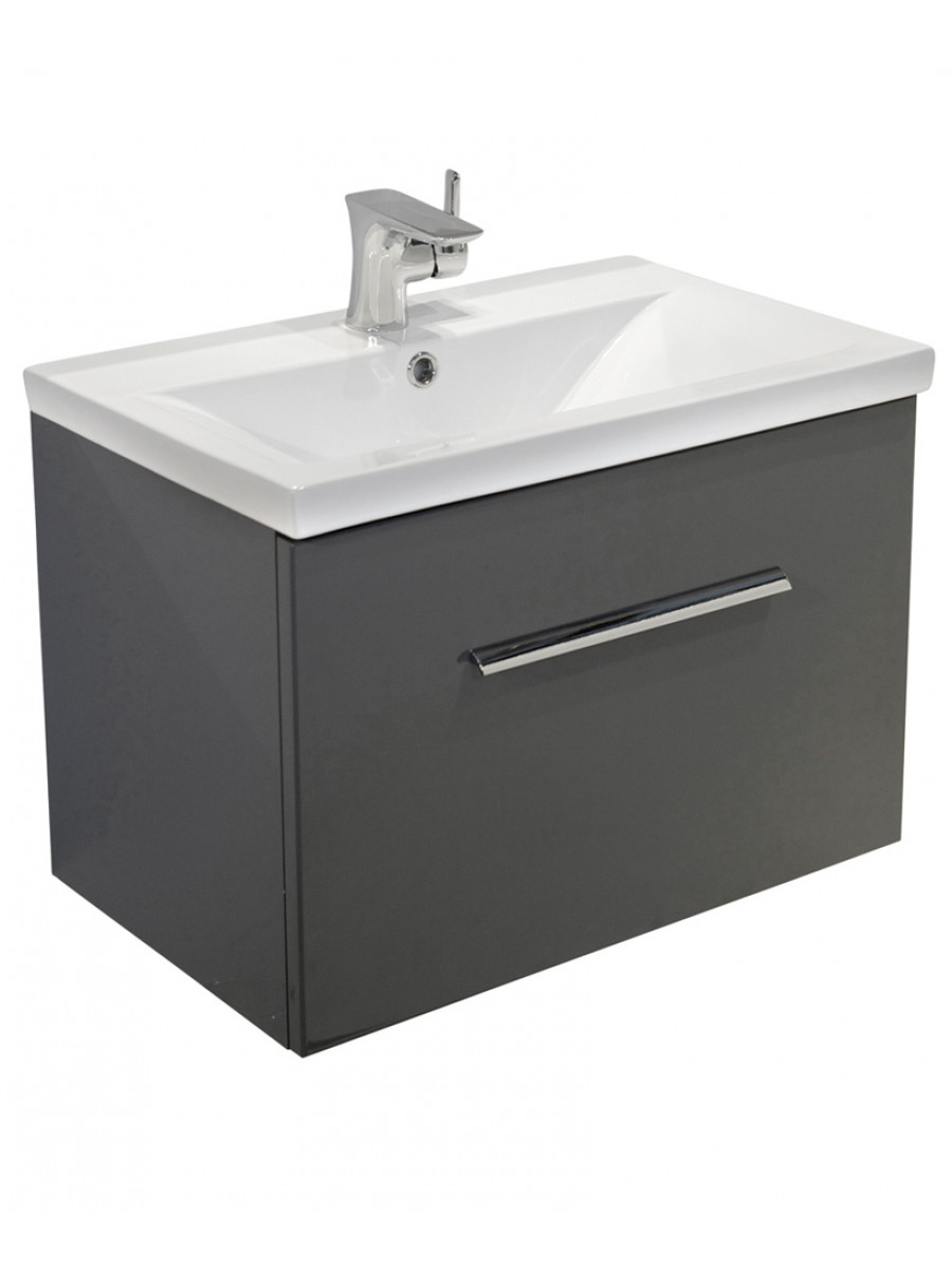 Nova Antracite  Slimline 60cm Wall Hung Vanity Unit