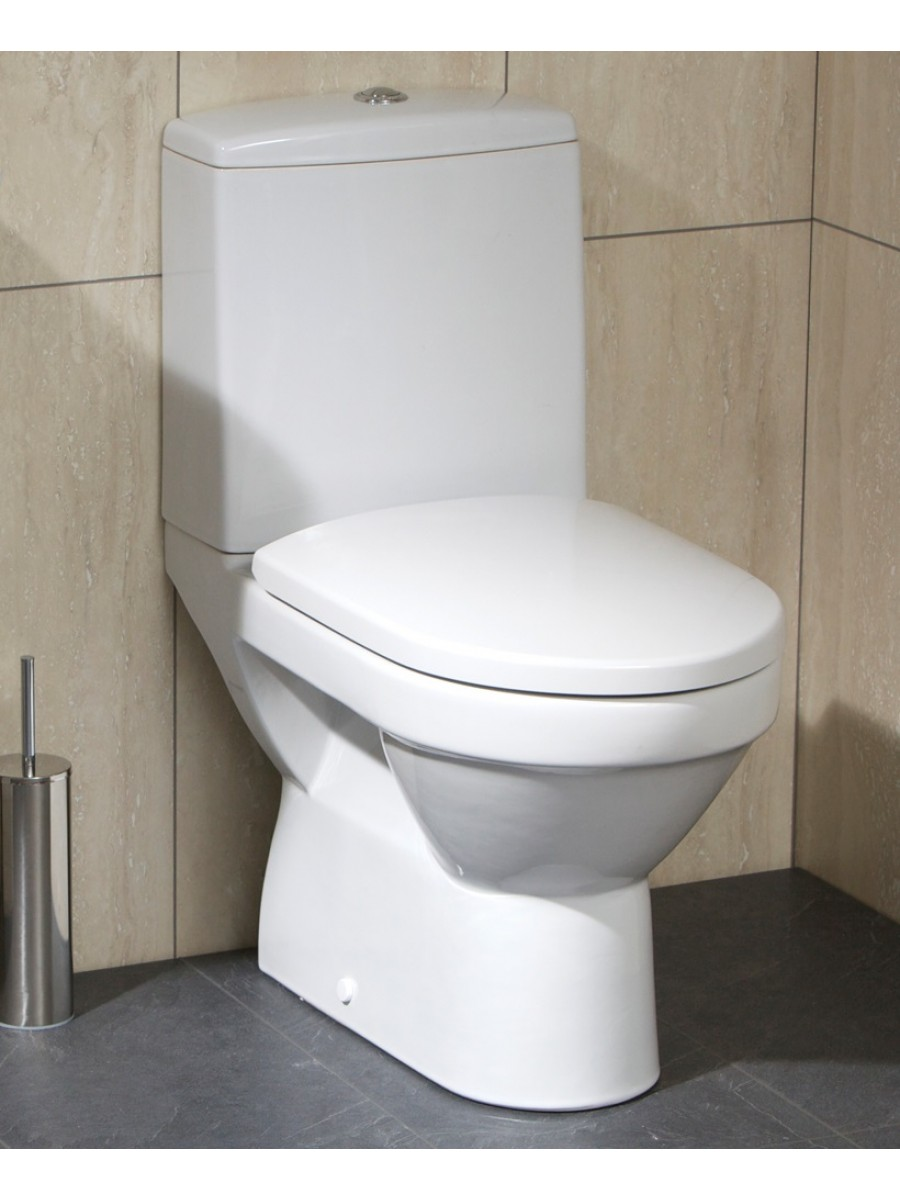 Olimpia Close Coupled Toilet & Soft Close Seat