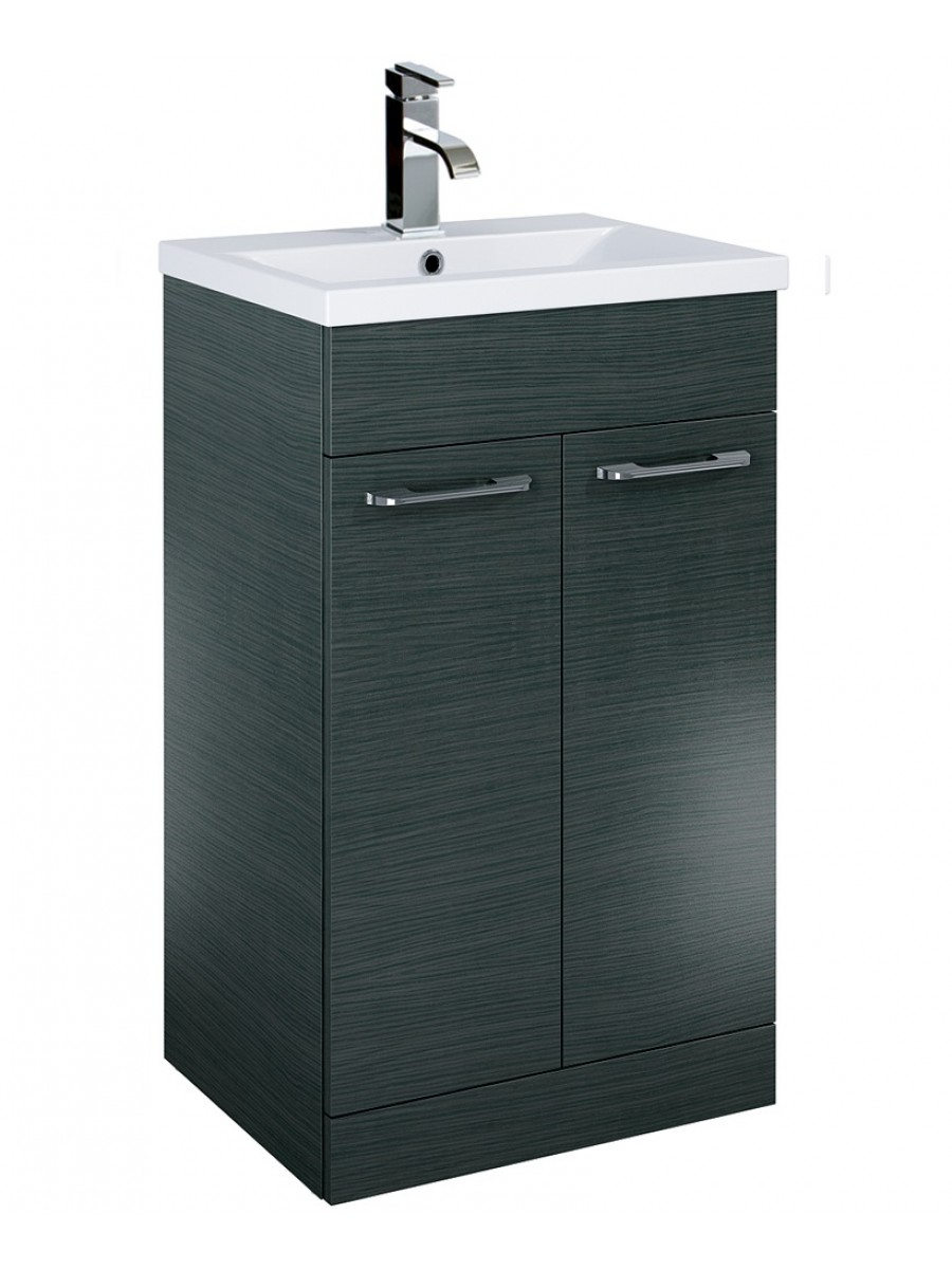 Otto Plus 50cm Vanity Unit 2 Door Grey