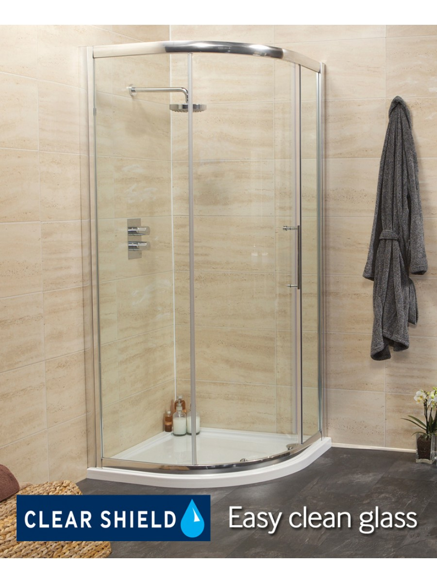 Revive 1000 Quadrant Single Door Shower Enclosure - Adjustment 950-980mm