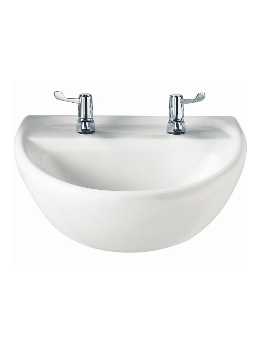 Sola Medical 500 Washbasin 2 Tap Hole