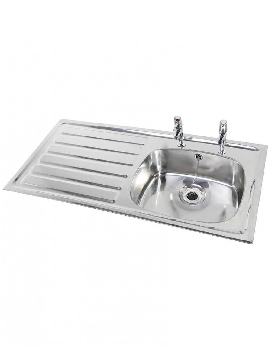 Ibiza HTM64 Inset Hospital Sink Deep Bowl 1028x500mm Left hand Drainer