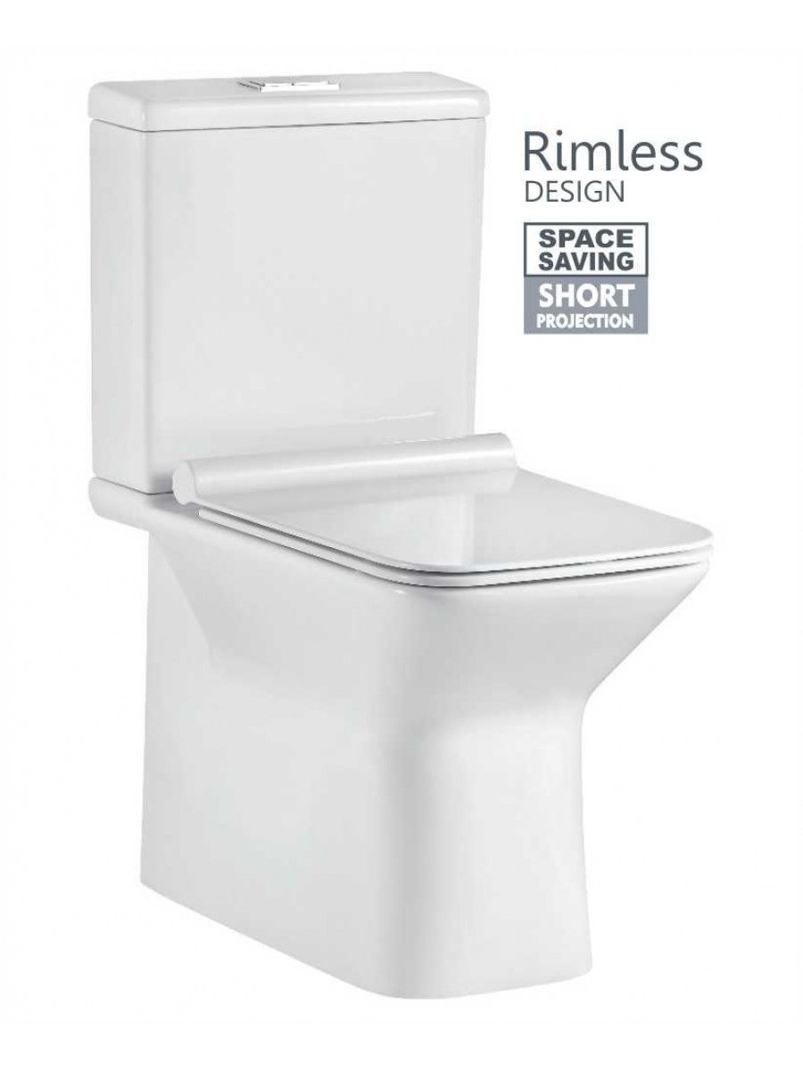 Serena Fully Shrouded Close Coupled Rimless WC with SLIM Quick ...