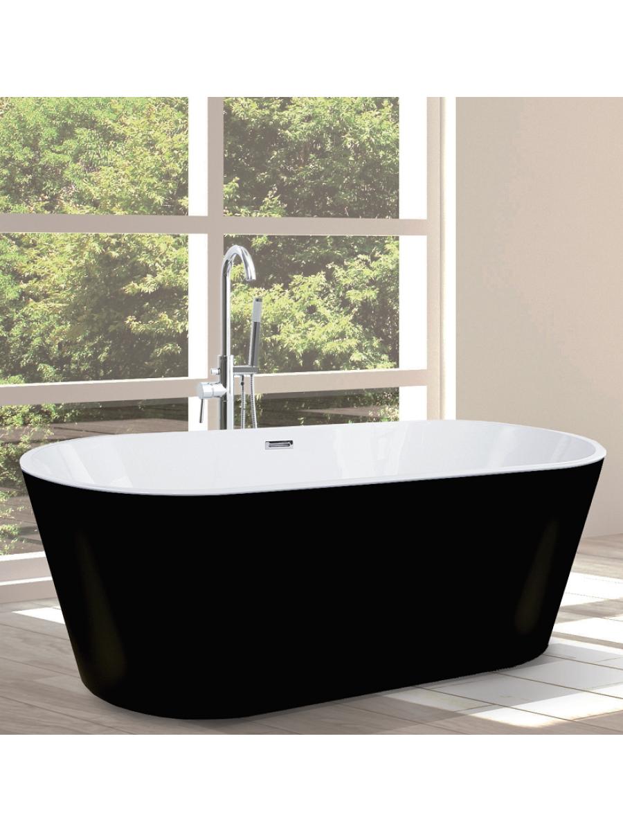 Signature Matt Black Freestanding Bath L1700 x W805