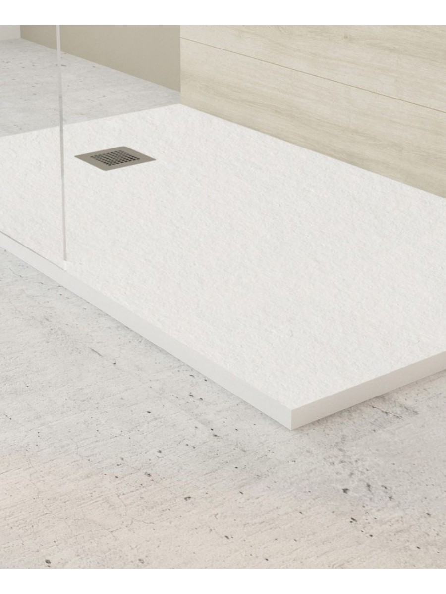 Slate 1900 X 800 Shower Tray White With Free Shower Waste