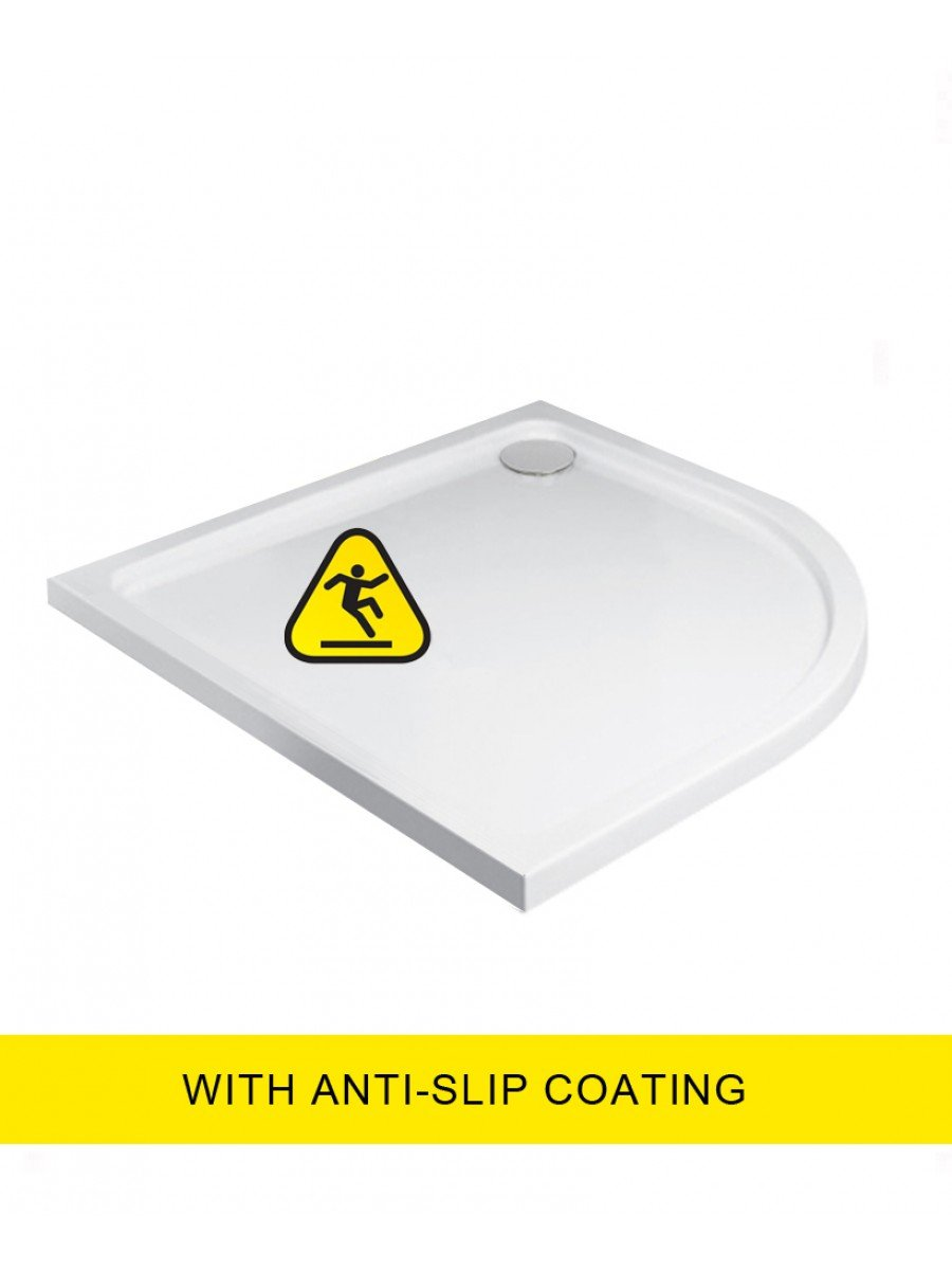Kristal Low Profile 900 Quadrant Shower Tray  - Anti Slip  with FREE shower waste