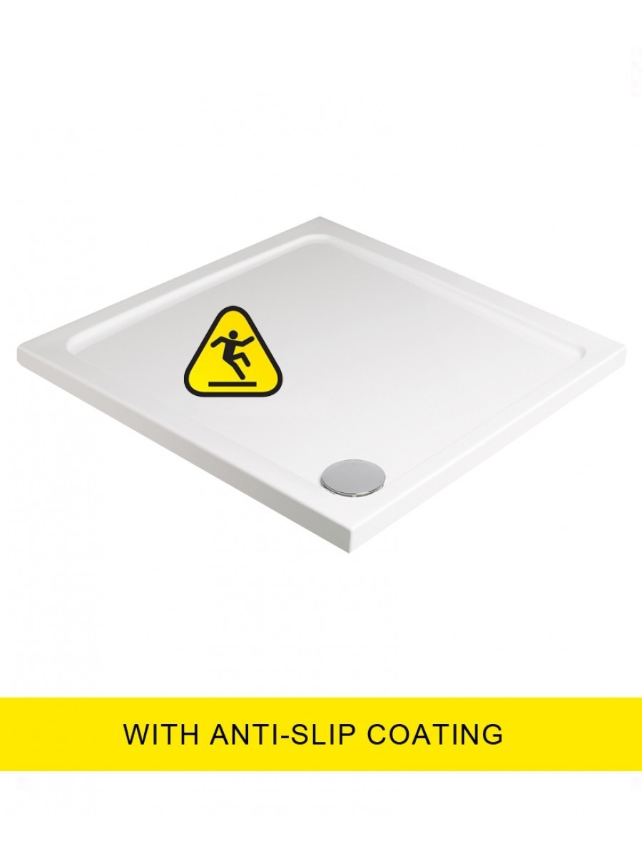 Kristal Low Profile 800x800 Shower Tray -Anti Slip  with FREE shower waste
