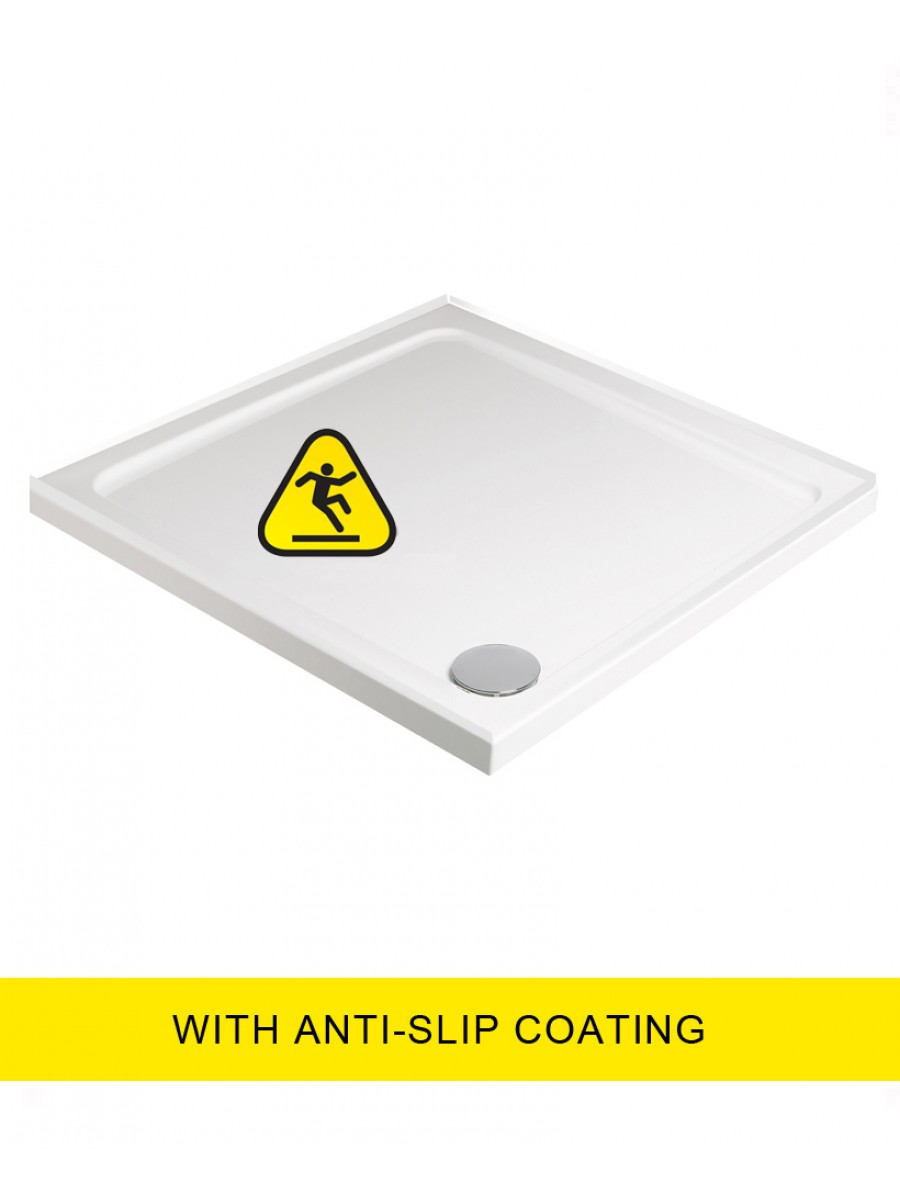 Kristal Low Profile 760 Square 4 Upstand  Shower Tray -Anti Slip with FREE shower waste