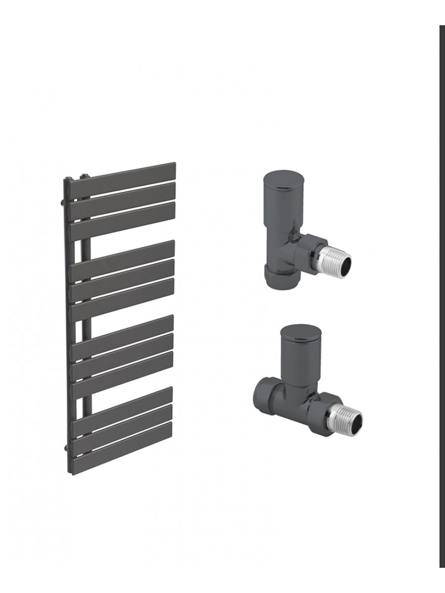 Como Anthracite Heated Towel Rail - Special Offer