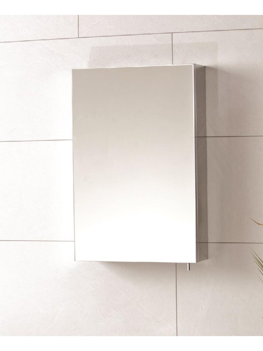 Stilo single door mirror cabinet 400 x 600 bathroom for Bathroom cabinet 600 x 400