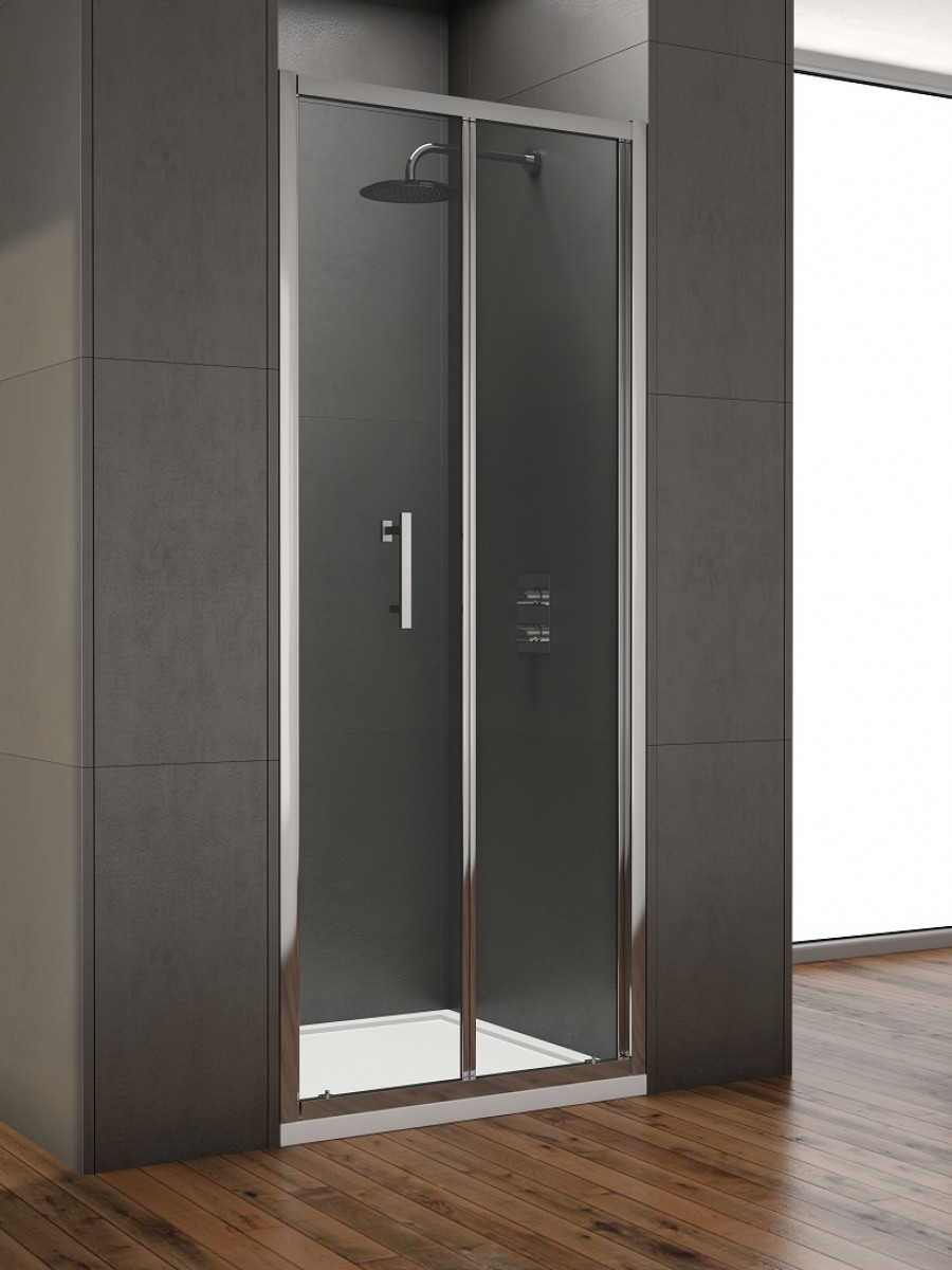Style 900mm Bi-fold Shower Door -  Adjustment 850 - 890mm