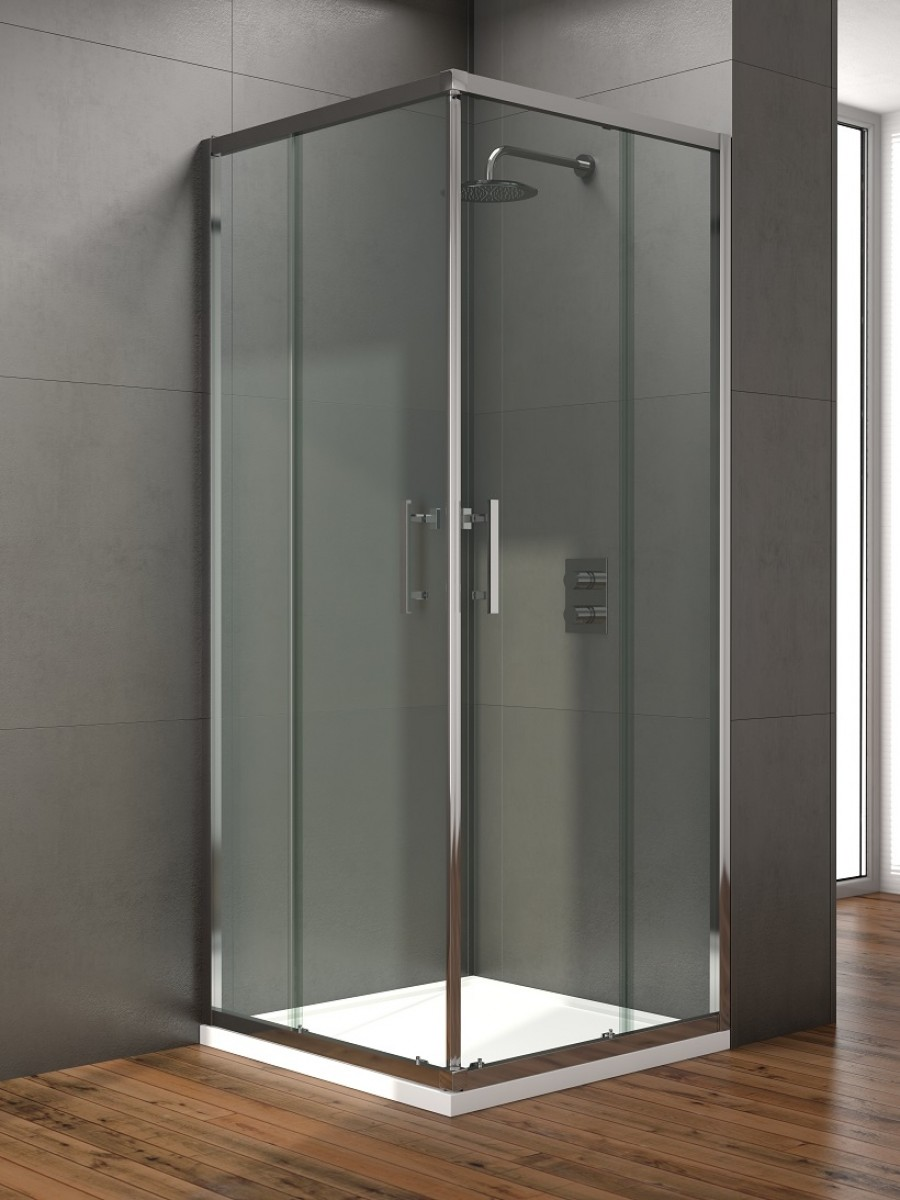 Style 800mm Corner Entry Shower Door - Adjustment 760 - 780mm