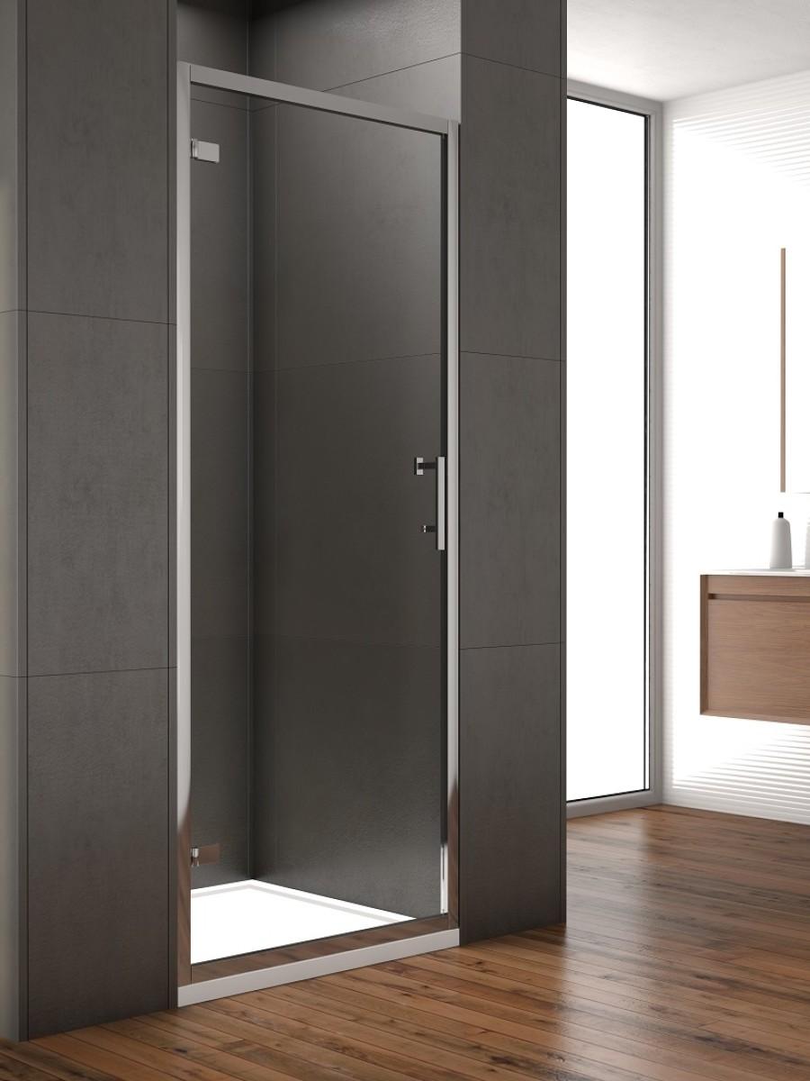 Style 900mm Hinged Shower Door - Adjustment 850 - 890mm