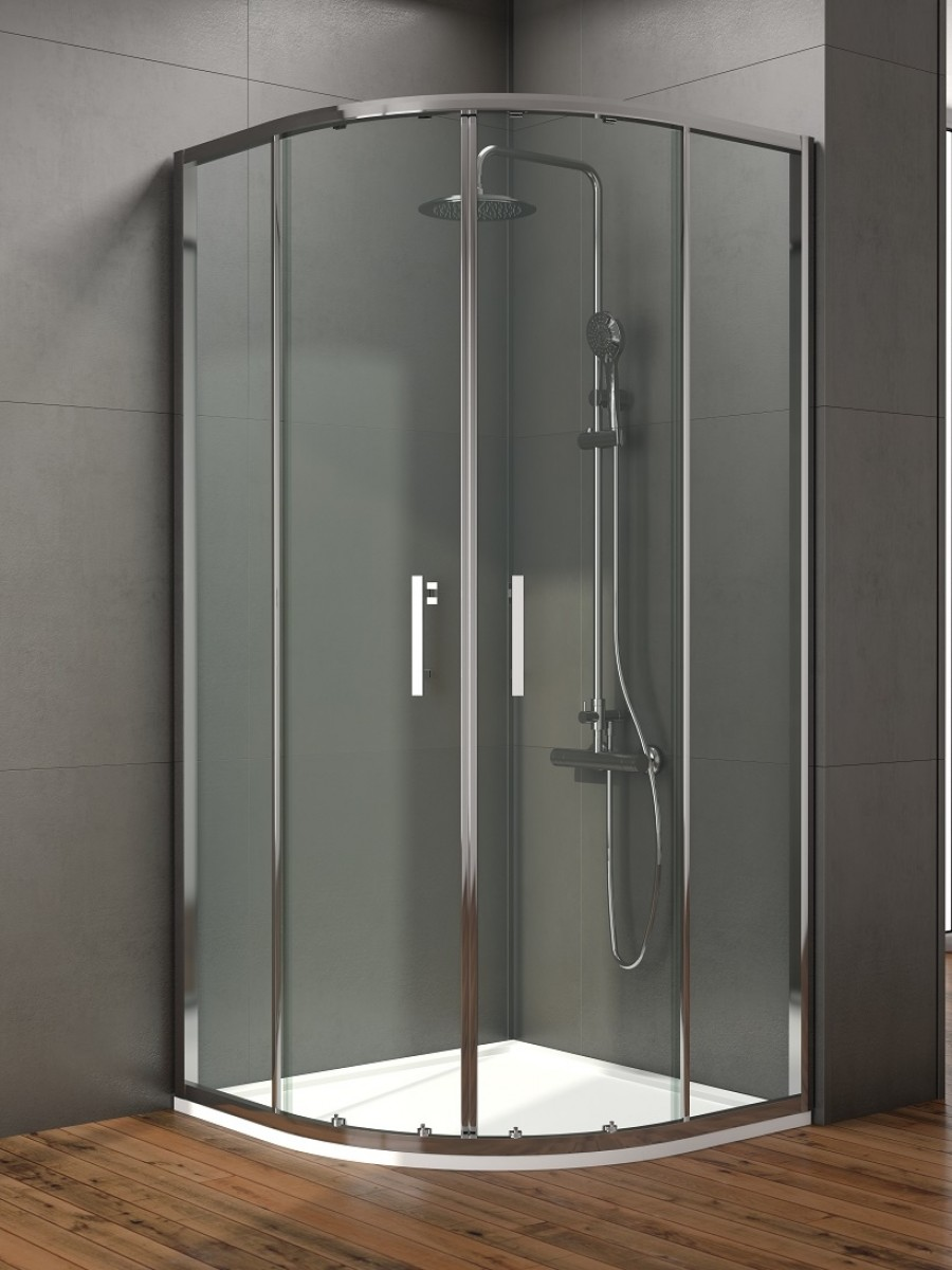 Style 1000mm Double Door Quadrant Enclosure - Adjustment 960 - 980mm