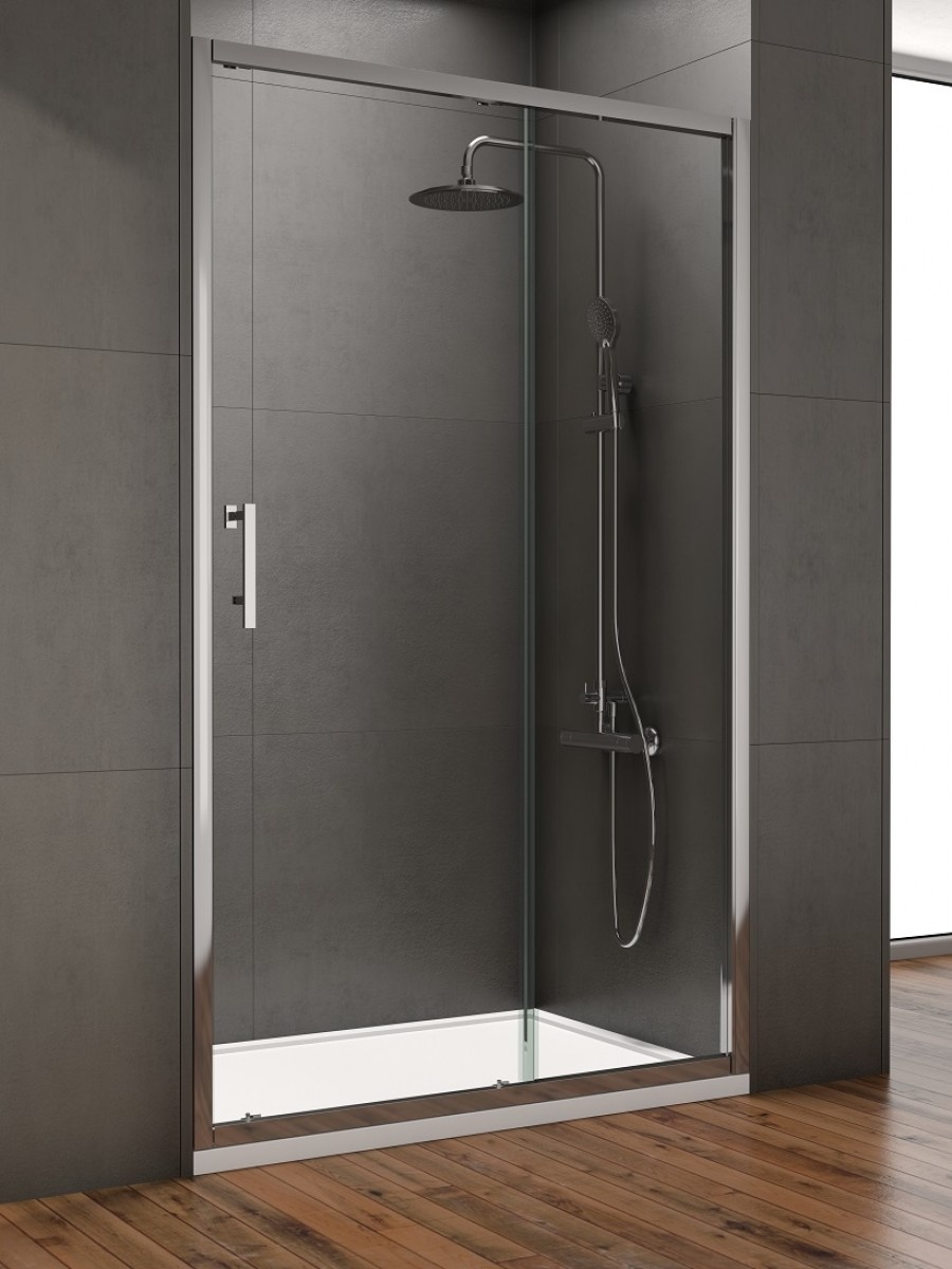 Style 1300mm Sliding Shower Door - Adjustment 1250 - 1290mm