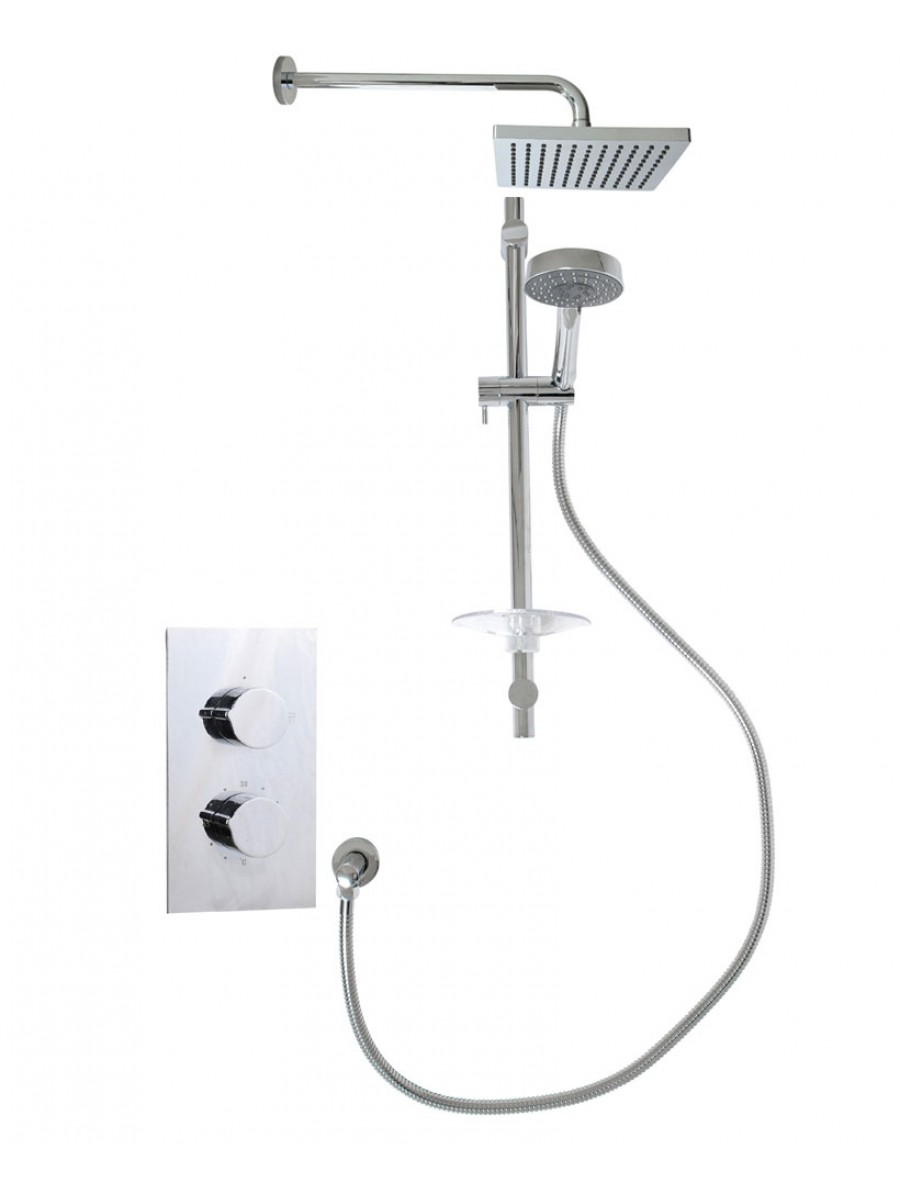 Tristan Rectangle Thermostatic Shower Kit C
