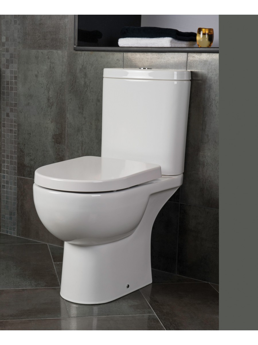 Tonique Close Coupled Toilet & Soft Close Seat - Comfort Height - Projection 625mm
