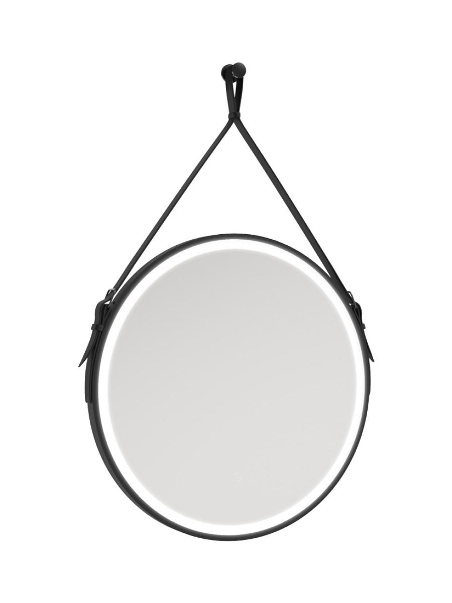 Astrid Style Rope Feature Illuminated Round 600x600mm Mirror