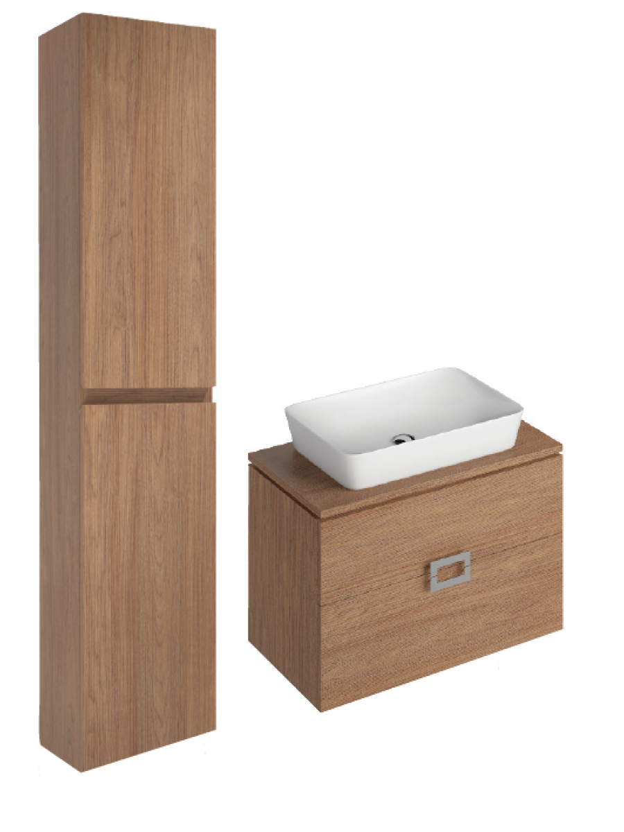 Katie Walnut 80 CounterTop Vanity Unit and Enya Basin and 30cm Wall Column  ** 50% Off While Stocks Last
