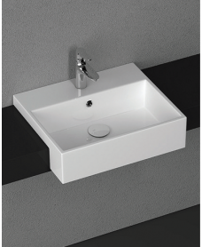 Square Semi Recessed Basin