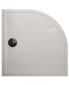 Kristal Surface 25mm 800x800 Quadrant Slimline Shower Tray and FREE 90mm Waste