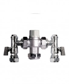 Intamix 22mm TMV3 Mixing Valve c/w Isolating Valves