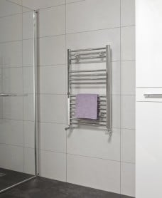 Straight 800x500 Heated Towel Rail Chrome