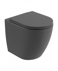 Atelier Back To Wall Rimless WC & Seat - Charcoal Grey