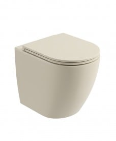 Avanti Back To Wall Rimless WC & Seat - Ivory