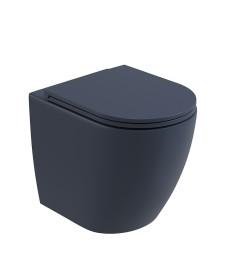 Avanti Back To Wall Rimless WC & Seat - Parisian Blue