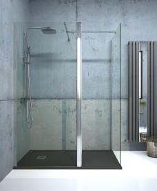 Aspect 800mm Wetroom Panel - Chrome