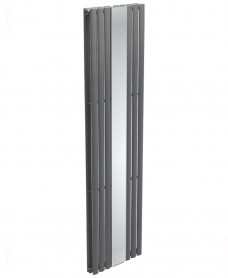 Amura Elliptical Tube Mirror Radiator 1800 x 500 Double Panel Anthracite