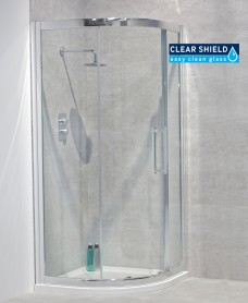 Aktive 8mm 900 Quadrant Single Shower Door - Adjustment 850-880mm