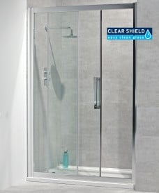 Aktive 8mm 1400 Sliding Shower Door - Adjustment 1340-1400mm