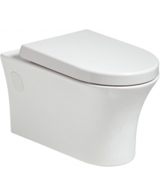 Amanda Wall Hung Rimless WC with Quick Release Soft Closing Seat
