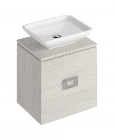 Katie Light Wood 55 CounterTop Vanity Unit and Aimee Basin