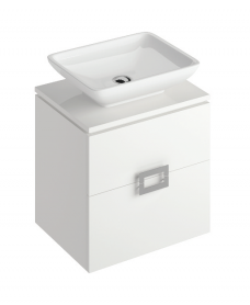 Katie White 55 CounterTop Vanity Unit and Aimee Basin