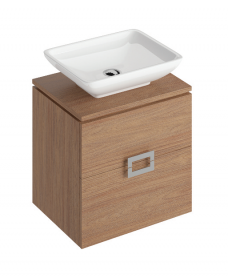 Katie Walnut 55 CounterTop Vanity Unit and Aimee Basin