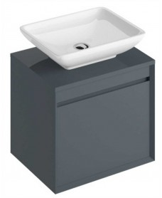 Reflex Antracite 55 CounterTop Vanity Unit and Aimee Basin