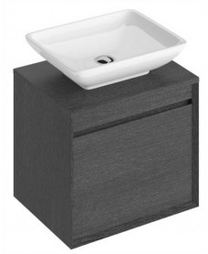 Reflex Dark Wood 55 CounterTop Vanity Unit and Aimee Basin