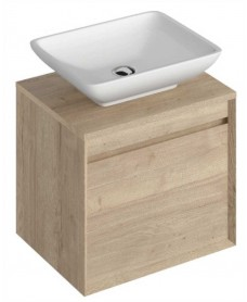 Reflex Halifax Oak 55 CounterTop Vanity Unit and Aimee Basin