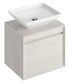 Reflex Light Wood 55 CounterTop Vanity Unit and Aimee Basin