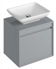 Reflex Pearl Grey 55 CounterTop Vanity Unit and Aimee Basin