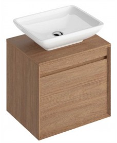 Reflex Walnut 55 CounterTop Vanity Unit and Aimee Basin