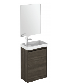 Dijon Samara Ash 45 Wall Hung Vanity Unit and Mirror.