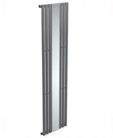 Amura Elliptical Tube Mirror Radiator 1800 x 500 Single Panel Anthracite