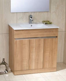 Athens Oak 80cm Vanity Unit & Basin - Toledo - * Special Offer includes Choice of Tap
