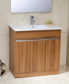 Athens Walnut 80cm Vanity Unit & Toledo Washbasin